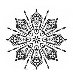 Schablone Spider Mandala