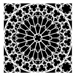 Schablone Stone Rosette